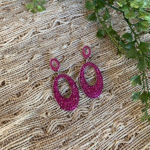 Jewelry - Pink rhinestone earrings